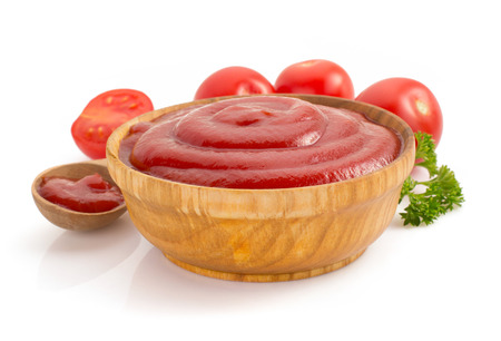 tomato sauce isolated on white background Фото со стока