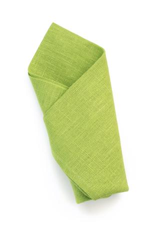 white napkin: folded napkin isolated on white background Stock Photo