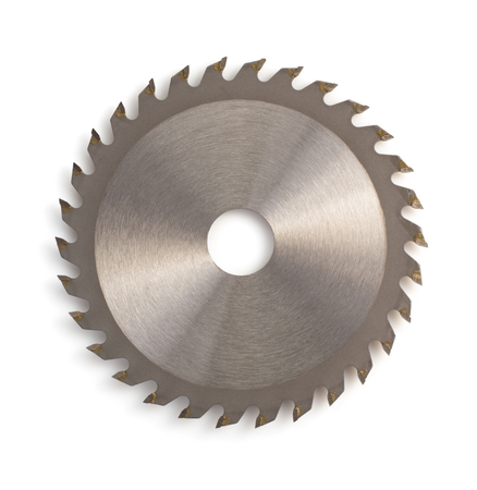 saw blade: circular saw blade isolated on white background Stock Photo