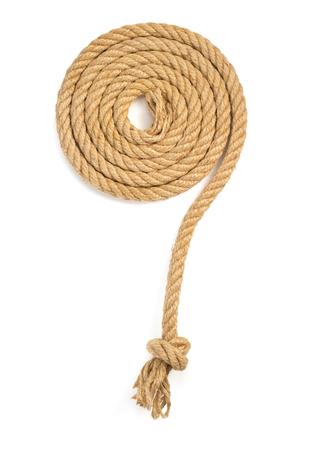 nudo: cuerda de la nave aislada en el fondo blanco