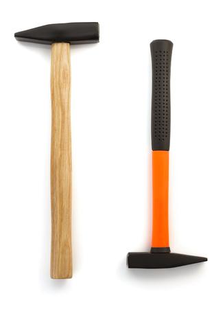 housebuilding: hammer tool isolated on white background Stock Photo