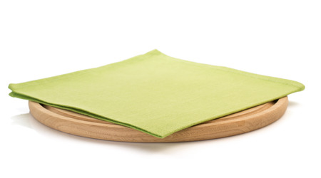 napkin: napkin and cutting board on white background