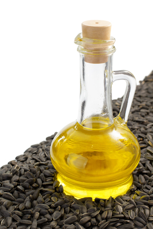 bottle of oil isolated at white background