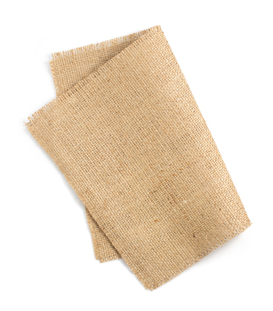 burlap hessian sacking isolated on white background Reklamní fotografie - 45173436