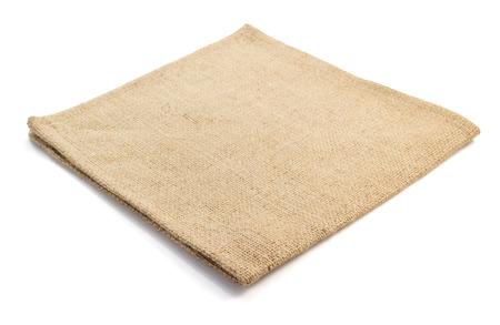 servilleta: arpillera arpillera sacking aislado en fondo blanco