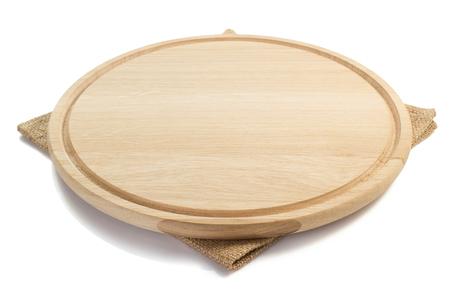 servilleta: tablero de corte y la servilleta sobre fondo blanco