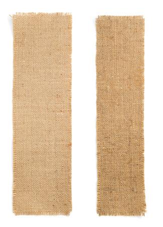 arpillera arpillera sacking aislado en fondo blanco Foto de archivo