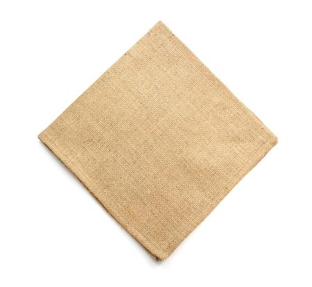 sackcloth: burlap hessian sacking isolated on white background