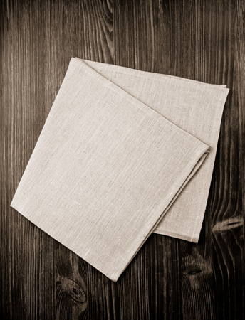 cloths: cloth napkin on wooden background