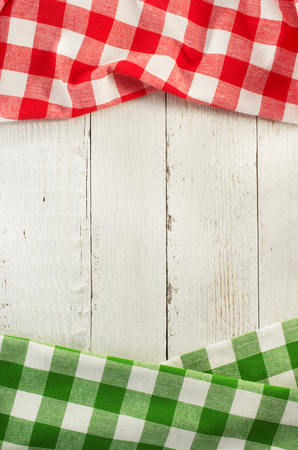 green flag: cloth napkin on wooden background