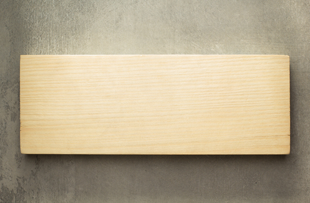 board panel: wooden board panel on wall Stock Photo