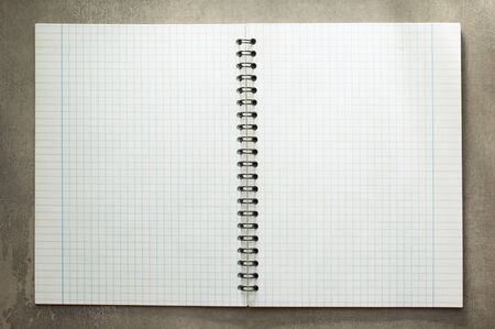note pad: checked notebook at old background