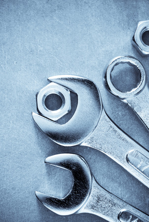 wrench: wrench tools at metal background
