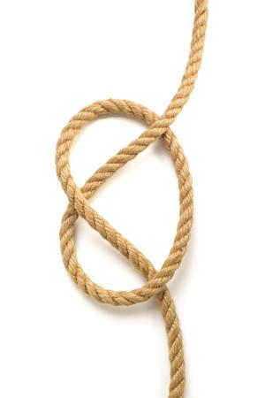 lashing: ship rope isolated on white background Stock Photo