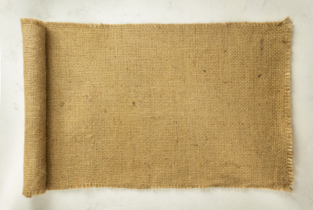 hessian: burlap hessian sacking on wall background