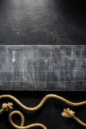 gibbet: ship rope at black background texture