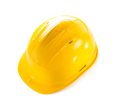 construction hard hat isolated on white background