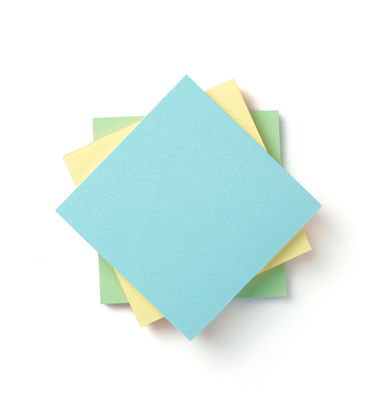 memory note paper isolated at white background 写真素材
