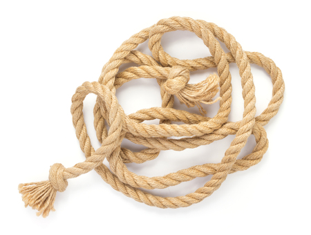 ship rope isolated on white background Banque d'images