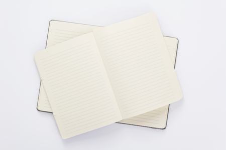 lined notebook at white background
