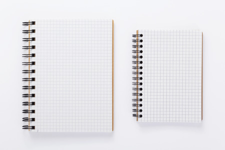 paper notebook or note pad book at white background