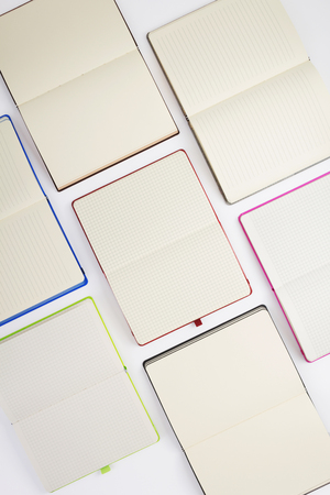 paper notebook or note pad at white background
