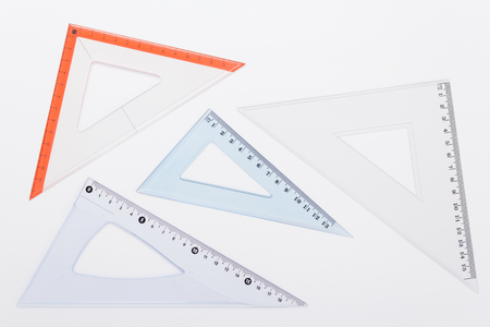 ruler metric set at white background, top view