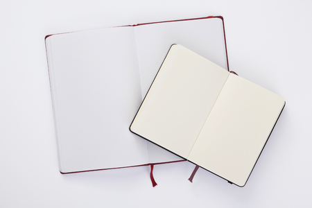 Notebook or notepad at white
