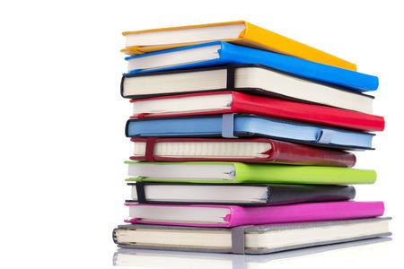 Cuaderno o bloc de notas aislado en blanco Foto de archivo