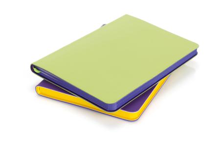 Notizbuch lokalisiert auf weißem Hintergrund Standard-Bild