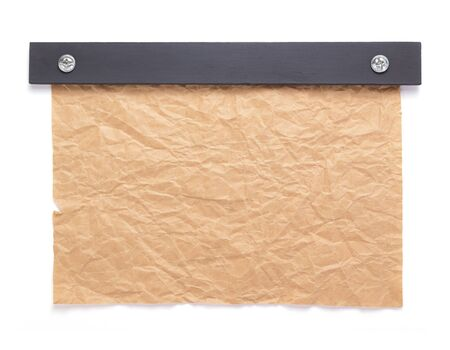sheet of paper with empty pages isolated at white background