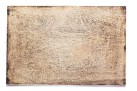 wooden nameplate or wall sign isolated at white background
