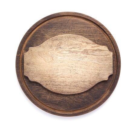 Planche à découper pizza isolé sur fond blanc