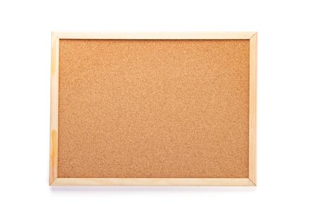 cork board isolated on white background Stock Photo