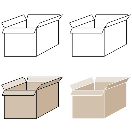 pick out: Light brown present box with pick out paths this is set icons.