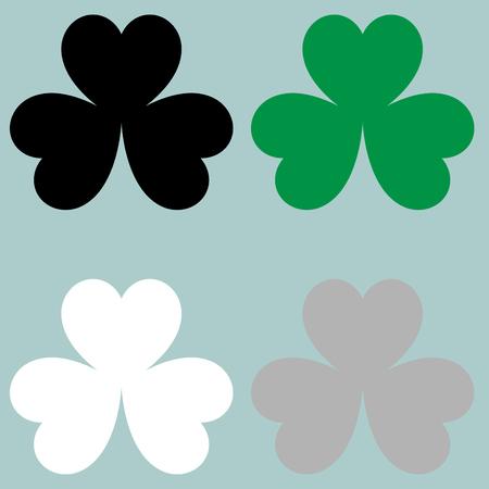 The leaf clover trefoil icon. Set icons.