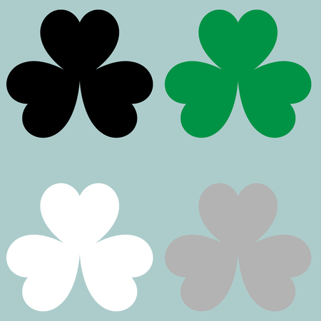 trifolium: The leaf clover trefoil icon. Set icons.