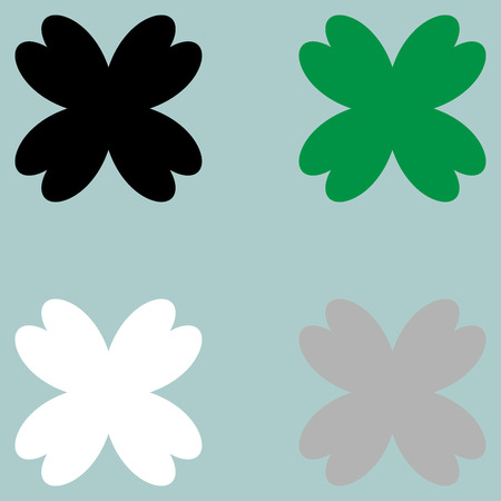 trifolium: The leaf clover fourfoil icon. Set icons.