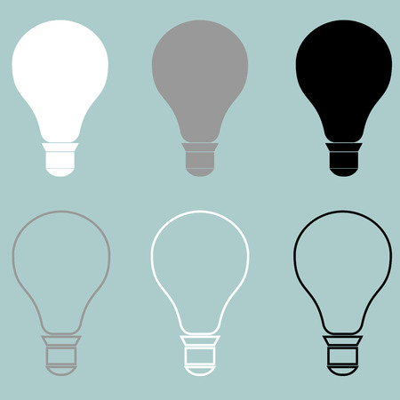 Bulb or electric light icon it is set.