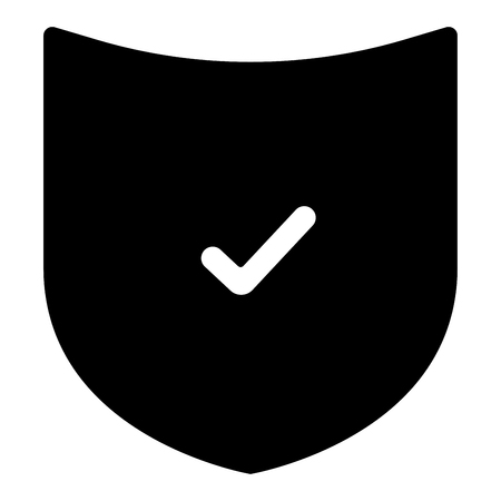 The black color shield is an icon. Illustration