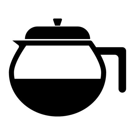 Capacity for hot drinks it is black icon. Ilustração
