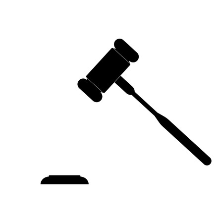 The judicial hammer it is the black color icon.