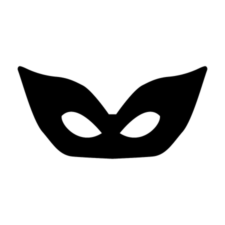 comedy: Mask it is the black color icon. Illustration
