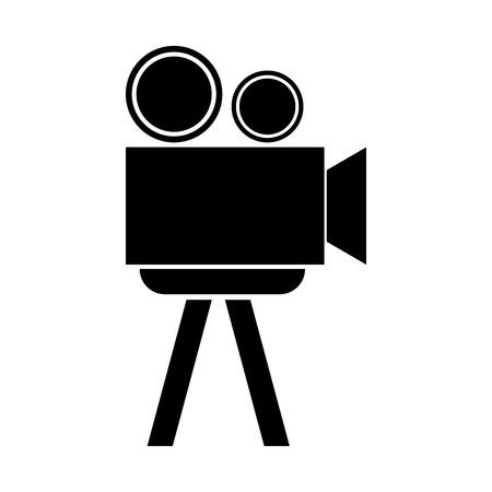 cinematograph: Cinematograph it is the black color icon. Illustration