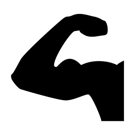 Bicepsom it is the black color icon. Ilustração