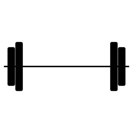 gym equipment: Barbell it is the black color icon .