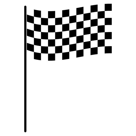 Race flag icon.
