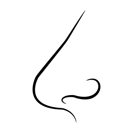 Nose it is the black color icon . Illustration