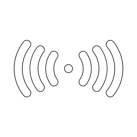 Radio signal it is the black color icon . Illustration