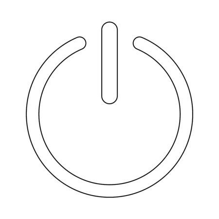 Button turn on or off black icon. it is the black color icon .